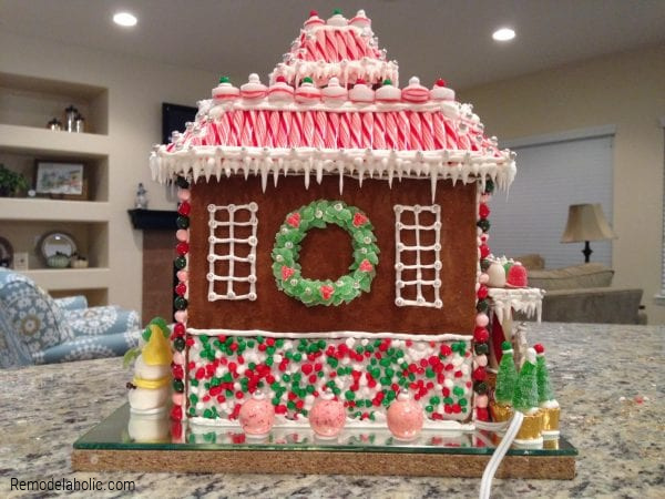 How To Decorate A Gingerbread House, Ideas From Remodelaholic