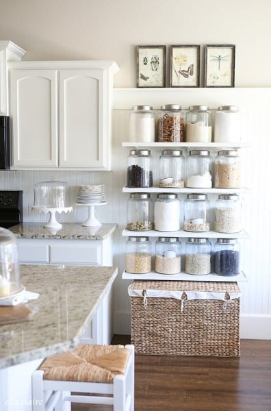 Shelves are the perfect way to add some storage. Check out these 15+ Clever Shelving Hacks You'll Love featured on Remodelaholic.com