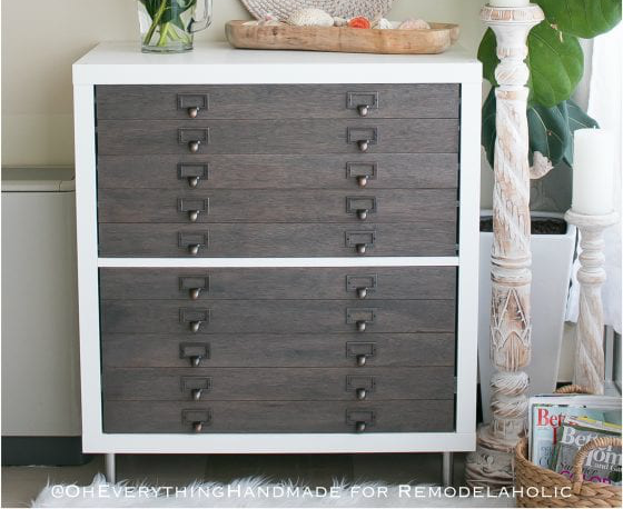 Kallax Flat File Cabinet By Oh Everythind Handmade On Remodelaholic