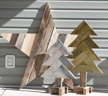 How to Build Rustic Herringbone Wood Christmas Trees