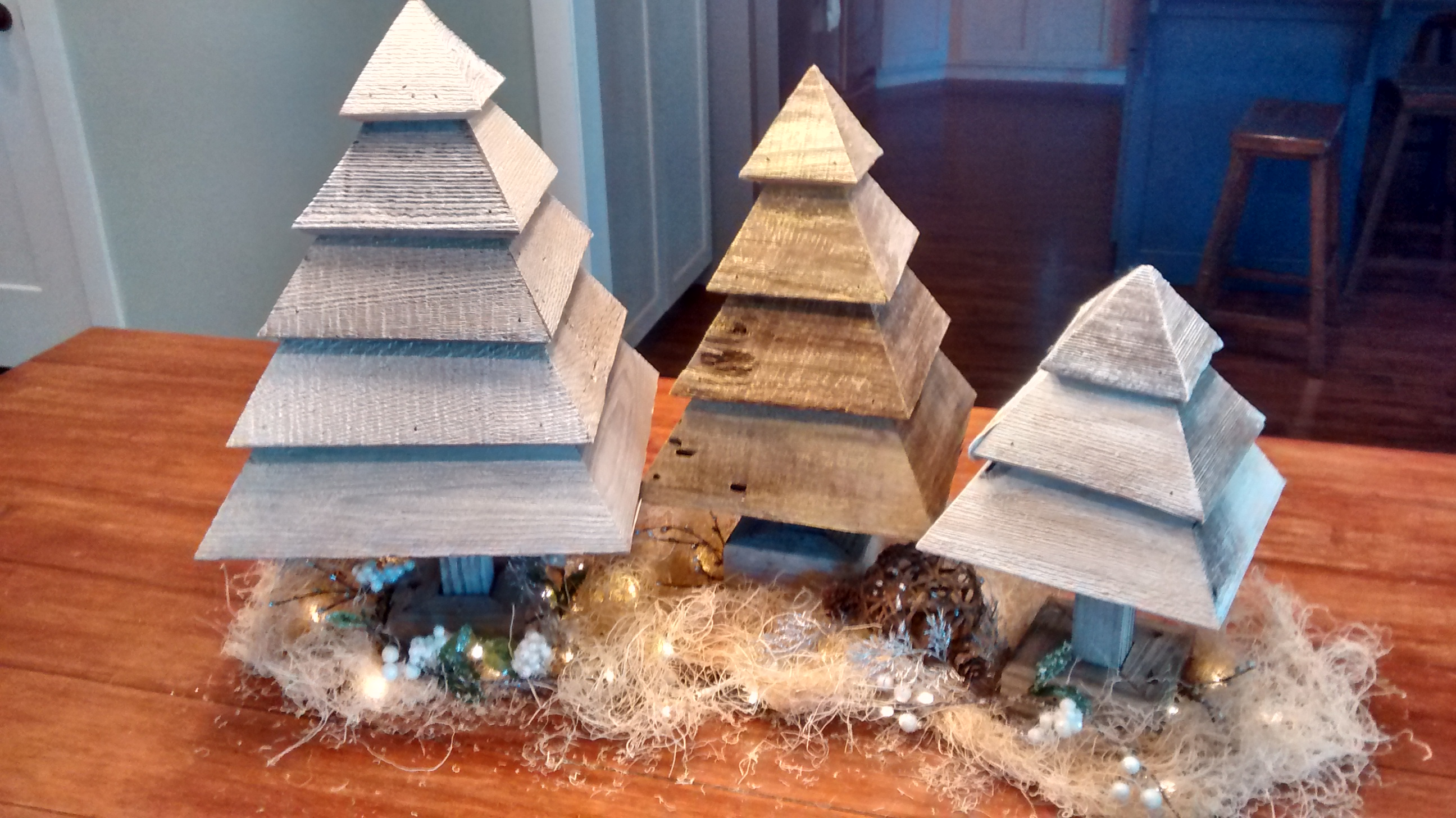 Remodelaholic How To Build 3d Wood Trees For Christmas And Winter Decor