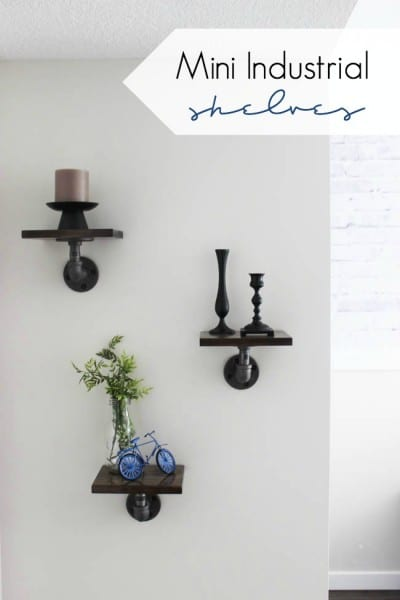 Mini DIY Industrial Shelves