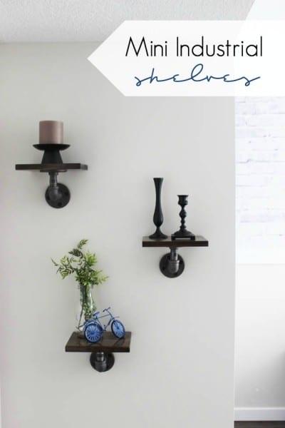 Mini DIY Industrial Shelves