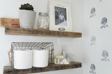 Pallet Wood Floating Shelves 8 1024x681
