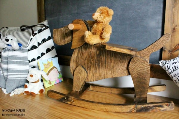 DIY Rocking Horse Plans, Wooden Rocking Dog Toy
