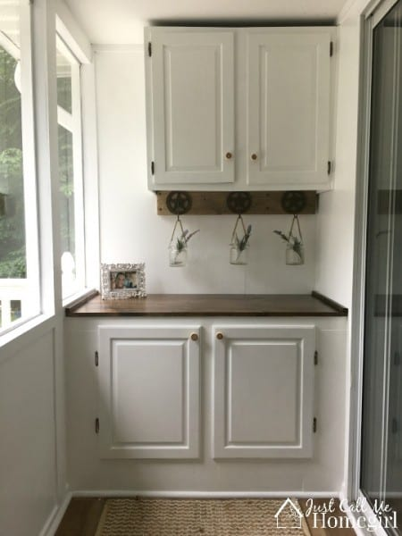 Sunroom Built In Cabinet White