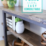 Beginner DIY Plans To Build An Easy DIY Wood Console Table, Remodelaholic