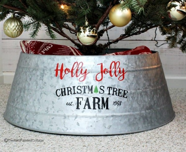Favorite Tree Skirt Alternative The Red Painted Cottage Created Cutest Collar It Is A Great To Regular Old