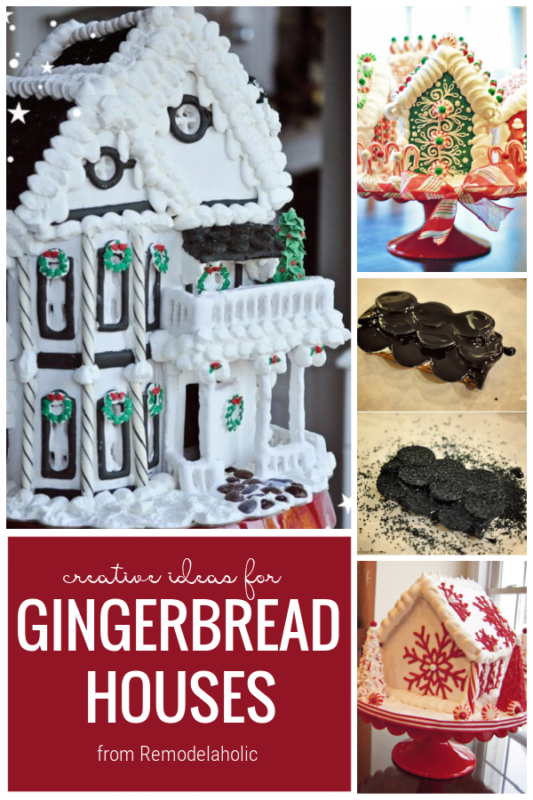Creative Ideas For Gingerbread Houses From Remodelaholic