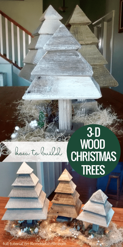 Diy Rustic 3D Wood Trees For Christmas And Winter @Remodelaholic
