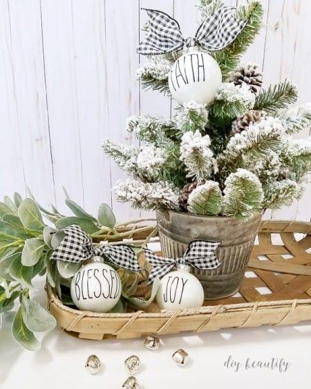 Diybeautify Rae Dunn Inspired Christmas Ornaments