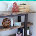 Easy DIY Console Table Plans, Pottery Barn Inspired Modern Shelf, Remodelaholic