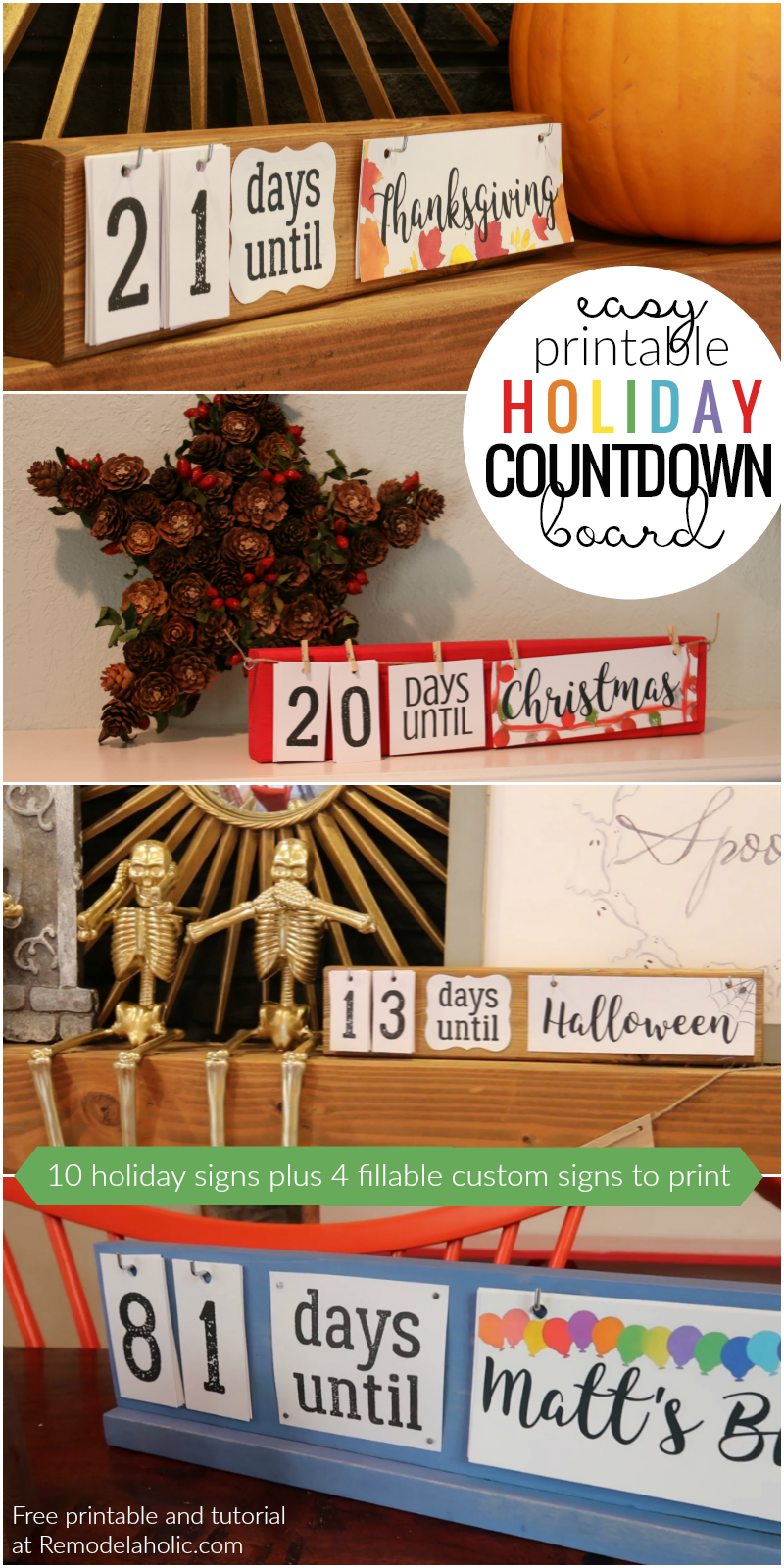 photograph relating to Vacation Countdown Calendar Printable titled Straightforward Do it yourself Getaway Countdown Board + Printables