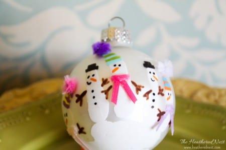 Heatherednest Handprint Ornaments