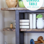 How To Build An Easy DIY Console Table With Shelves, Remodelaholic