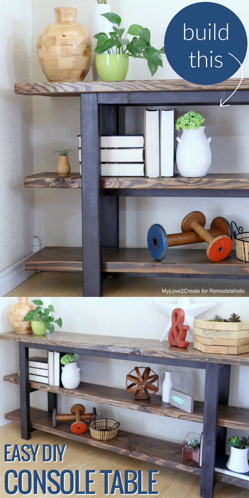 Remodelaholic pottery barn inspired modern rustic console table how to build an easy diy modern rustic console table inspired by pottery barn tutorial geotapseo Choice Image
