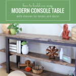 How To Build An Easy Modern DIY Console Table, Custom Adjustable Length, Remodelaholic