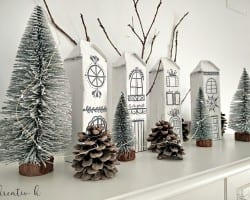 Kreativk Nordic Christmas Village From Milk Cartons