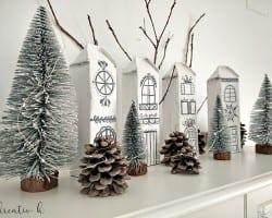 Kreativk Nordic Christmas Village From Milk Cartons