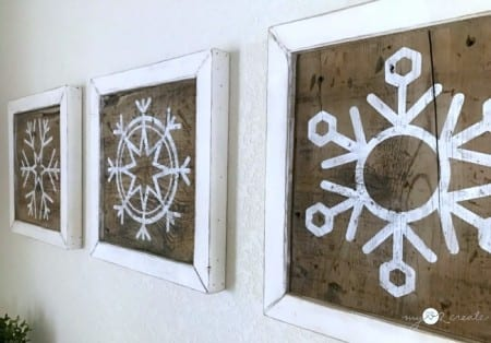 Mylove2create Reversible Snowflake Wall Art