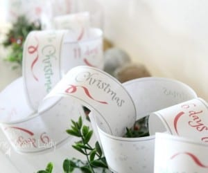 Printable Christmas Countdown Paper Chain, The Crazy Craft Lady