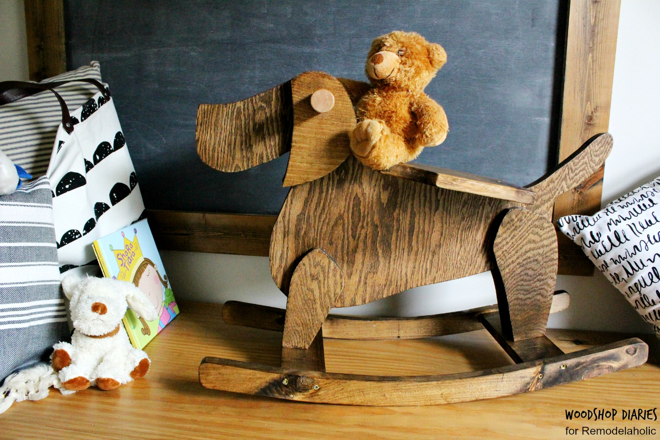 Remodelaholic | A Classic Rocking Horse Twist: DIY Wooden ...
