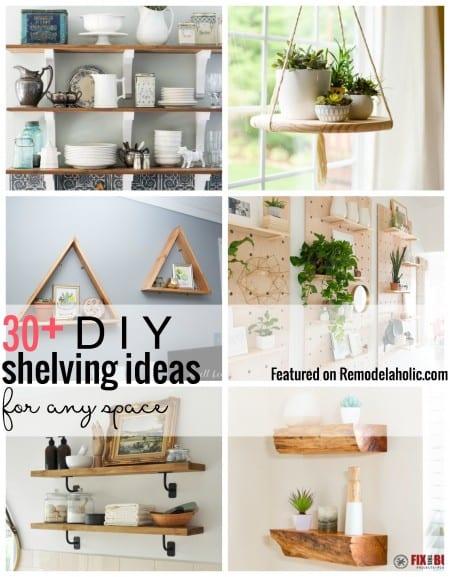 30+ Tutorials for DIY Wall Shelves
