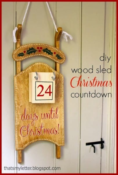 Sled Christmas Countdown