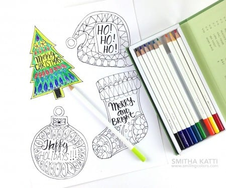 Smilingcolors Coloring Page Holiday Gift Tags