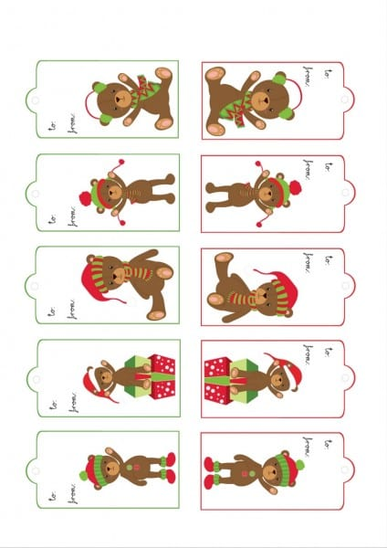 No Gift Tags, No Problem! We Have Three Sets Of FREE PRINTABLE Christmas Gift Tags At Remodelaholic.com