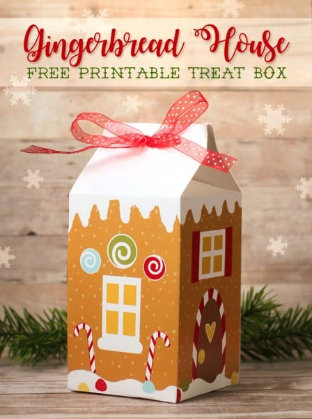 Thecraftpatchblog Gingerbread Treat Box Free Printable