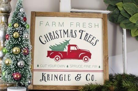Unoriginalmom Reversible Christmas Farmhouse Sign