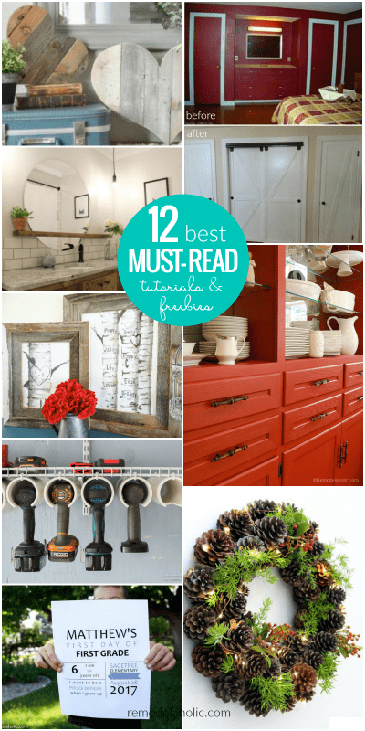 12 Best Must Read DIY Tutorials And Free Printables | From free printable first day of school signs to custom printables to DIY faux barn doors and painting without priming or sanding, these tutorials and freebies are worth reading!