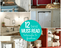 12 Best Must Read DIY Tutorials And Free Printables From @Remodelaholic Crop