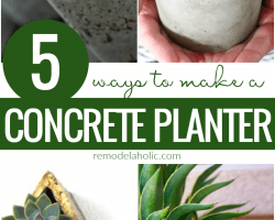 5 Different Ways To Make A DIY Concrete Planter Tutorials @Remodelaholic