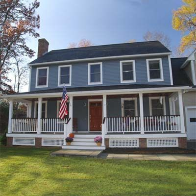 Remodelaholic real life rooms colonial porch curb appeal for Colonial front porch ideas