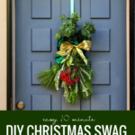 Easy 10 Minute DIY Christmas Swag By A Piece Of Rainbow On Remodelaholic