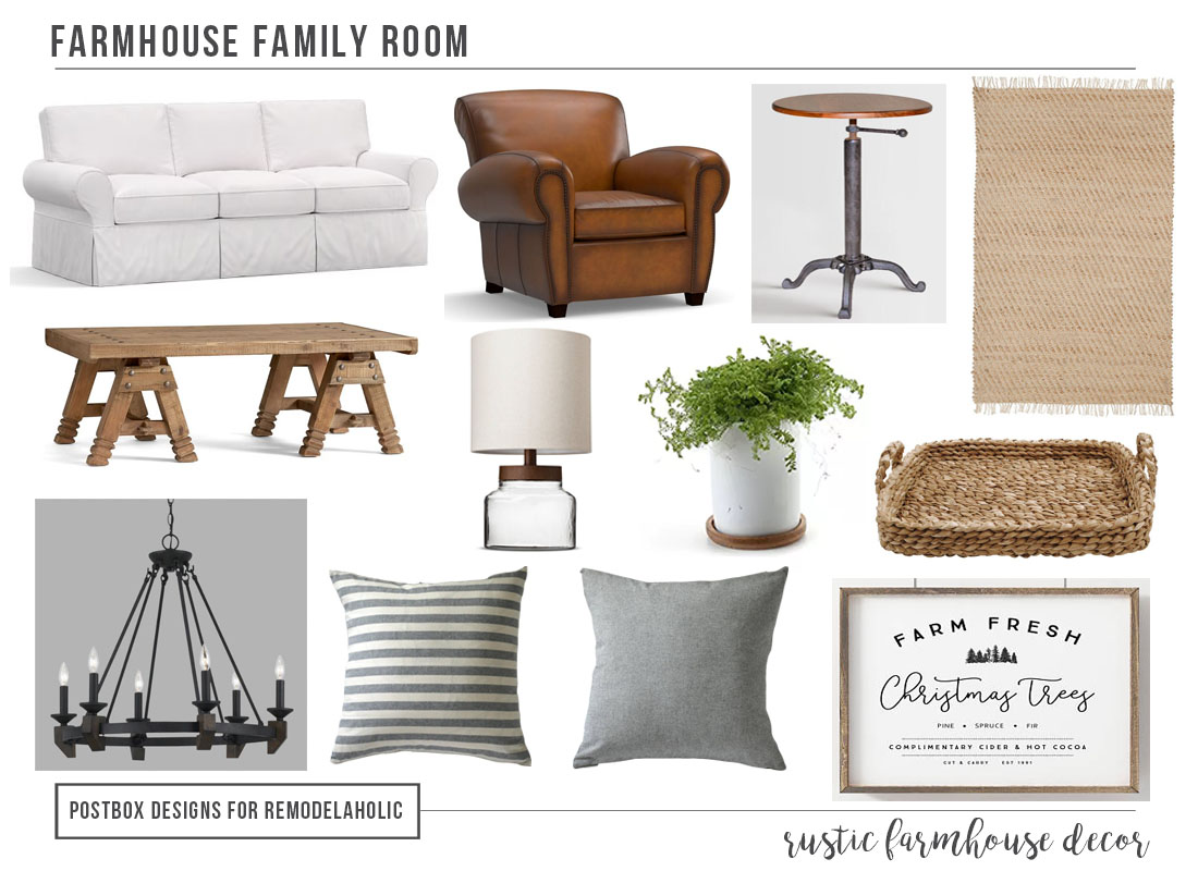 remodelaholic create a farmhouse family room how to style an open floor plan room - Farmhouse Great Room Plans
