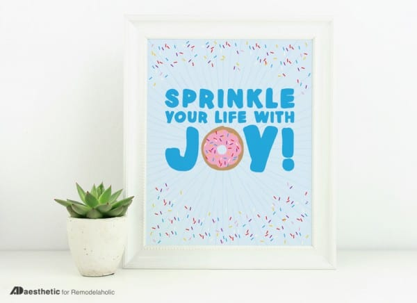 Free Printable Graphic Sprinkle Your Life With Joy AD Aesthetic For Remodelaholic • Horizontal