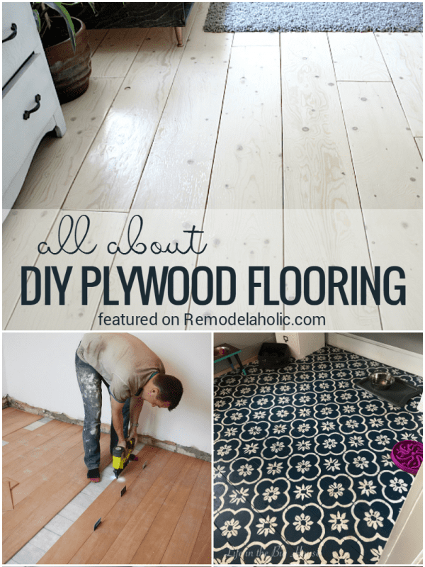 All About Diy Planked Plywood Flooring FAQ Pros Cons And Tips @Remodelaholic Crop