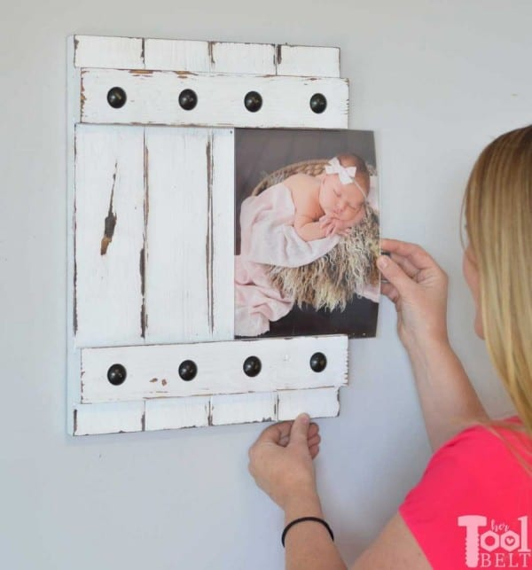 Diy Gift Idea, Farmhouse Style Sliding Picture Frame