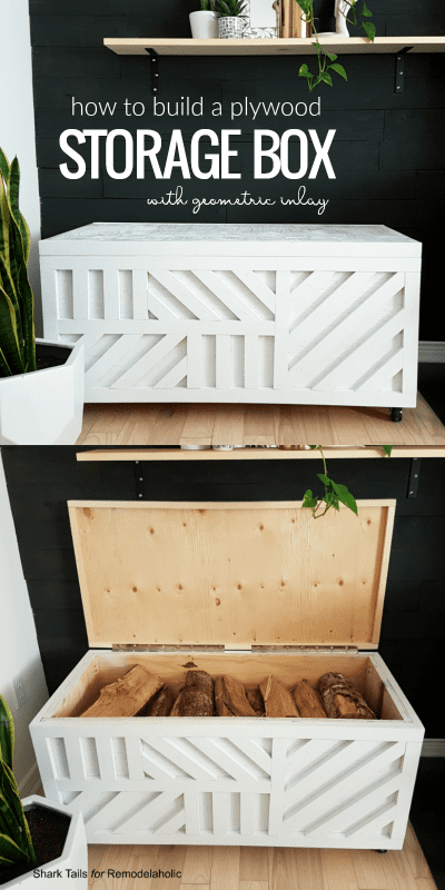 how to build a plywood storage box with geometric inlay