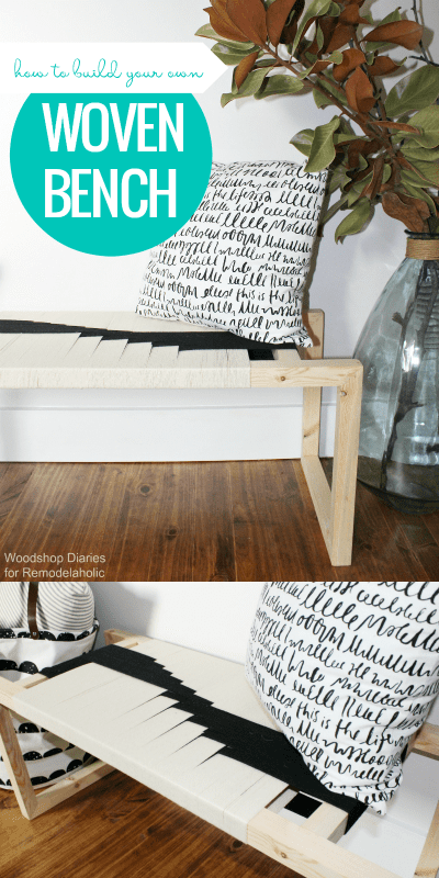Diy Woven Bench Tutorial And Free Building Plan @Remodelaholic