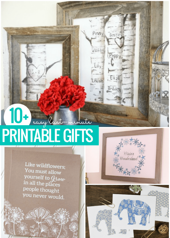 Easy Last Minute Printable Gifts For Christmas Birthdays Or Any Occasion Crop @Remodelaholic