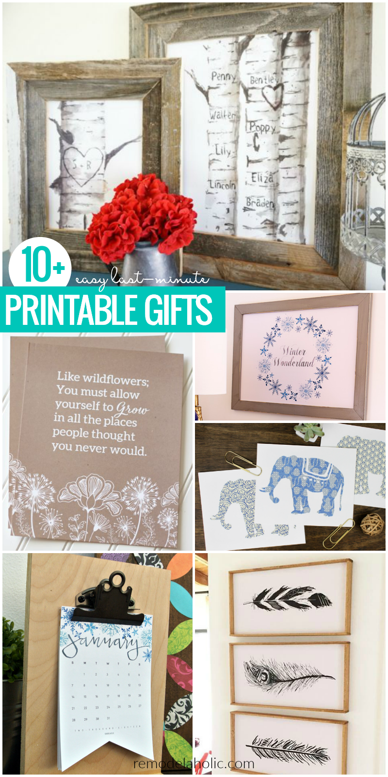 Remodelaholic Last Minute Free Printable Gift Ideas Inexpensive