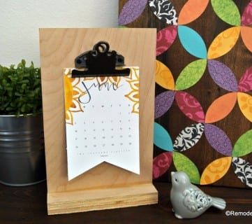 Printable Desk Calendar Plus Easy DIY Desktop Calendar Stand Or Photo Display