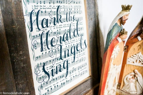 Free Printable Farmhouse Style Vintage Christmas Song Print Set @Remodelaholic (5)