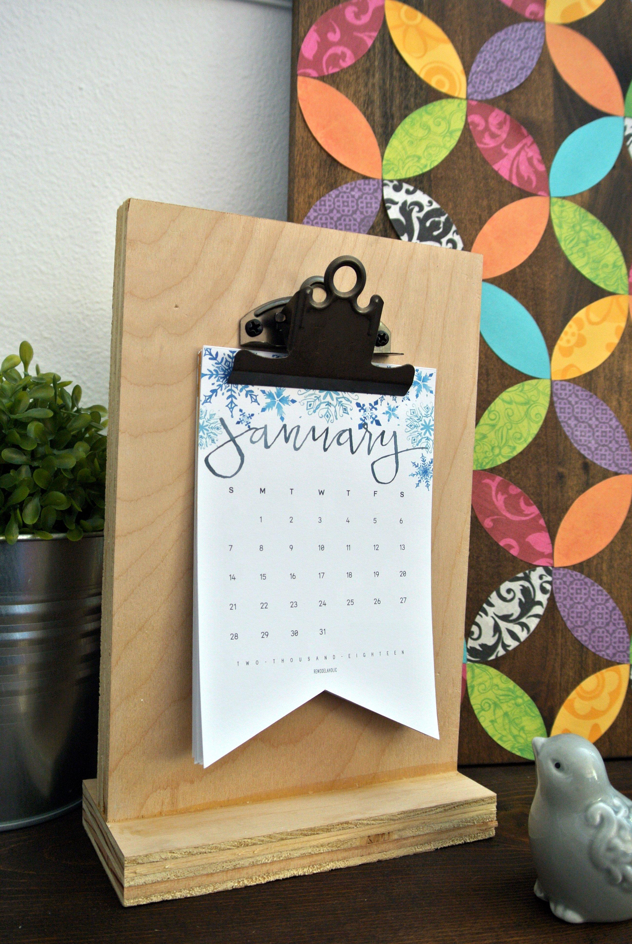 Diy Table Calendar Ideas : Remodelaholic last minute free printable gift ideas