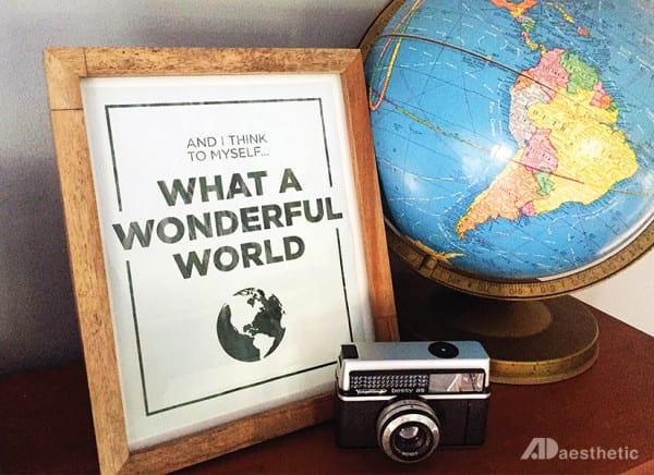 Free Printable Gift Idea, What A Wonderful World @Remodelaholic