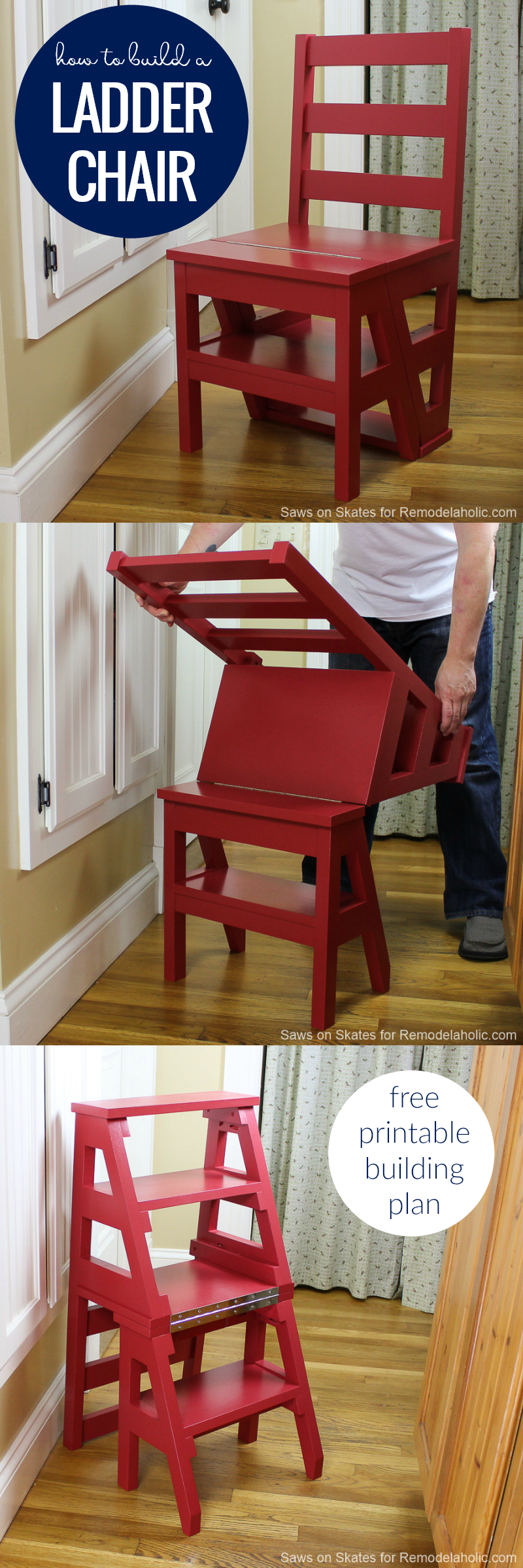 Remodelaholic Diy Ladder Chair A Modern Twist On An